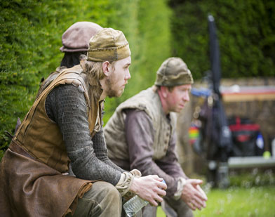 Actors filming 'Wolf Hall' at Barrington Court