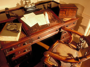 Dickens' desk and chair